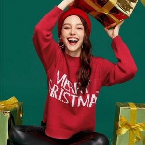 Red Merry Christmas sweater
